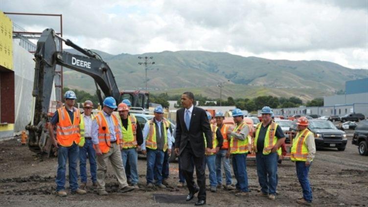 Barack Obama visite une future usine de panneaux solaires (AFP)