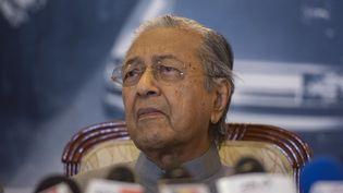 Mahathir Mohamad, ancien Premier ministre de Malaisie, lors d'une conférence de presse, le 3 septembre 2020. (ZAHIM MOHD / NURPHOTO / AFP)