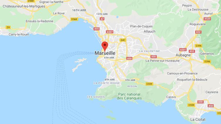 Marseille, dans les Bouches-du-Rhône. (CAPTURE D'ECRAN GOOGLE MAPS)