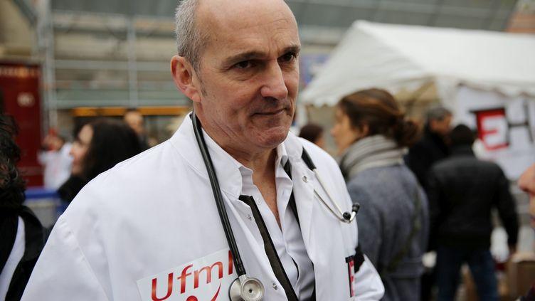 Jérôme Marty lors d'une manifestation à Paris en 2015. (LP/AURELIE LADET / MAXPPP)