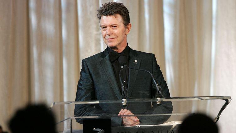 David Bowie, le 5 juin 2007 à New York (Etats-Unis), lors d'une cérémonie à Wall Street. (BRYAN BEDDER / GETTY IMAGES NORTH AMERICA / AFP)