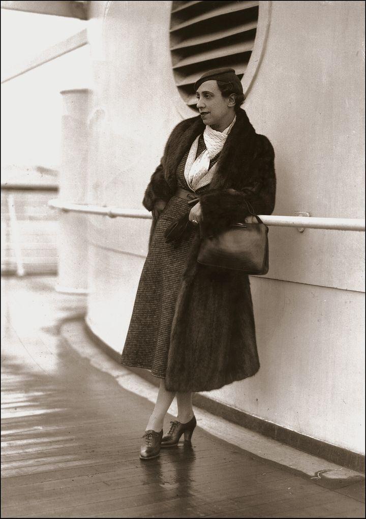 Elsa Schiaparelli, en mars 1933. (AFP)