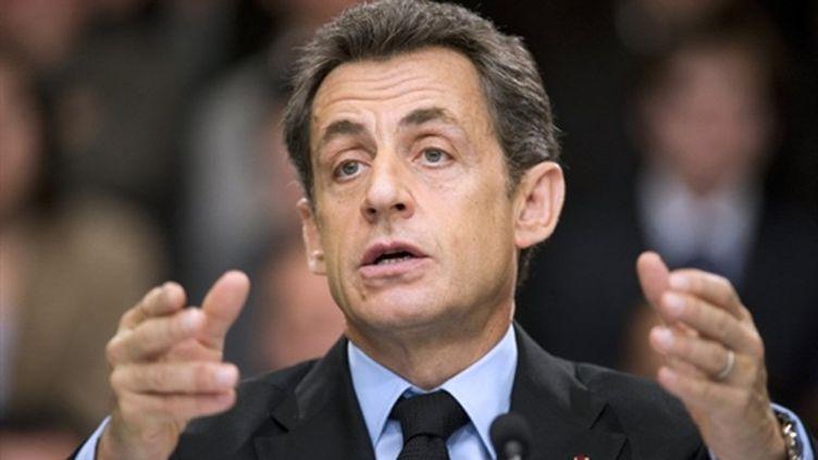 Nicolas Sarkozy le 3 février 2011 (AFP - LIONEL BONAVENTURE)