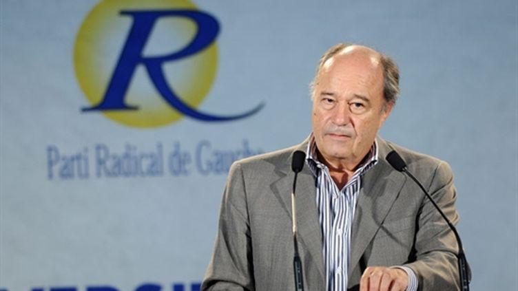 Le président du Parti radical de gauche Jean-Michel Baylet lors d'un discours à La Rochelle, le 6 septembre 2009. (AFP - Xavier Leoty)