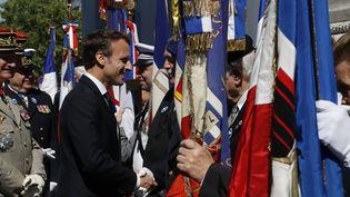 Le président de la République, Emmanuel Macron, le 8 mai 2018 à Paris. (FRANCOIS GUILLOT / AFP)