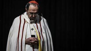 Le cardinal Philippe Barbarin lors d'une messe à la cathédrale Saint-Jean de Lyon, le 3 avril 2016. (JEFF PACHOUD / AFP)