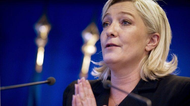 La présidente du Front national Marine Le Pen, le 5 janvier 2012 à Paris. (JOEL SAGET / AFP)