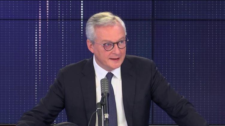 Bruno Le Maire, ministre de l'Economie, invité de franceinfo mardi 6 octobre 2020.  (FRANCEINFO / RADIOFRANCE)
