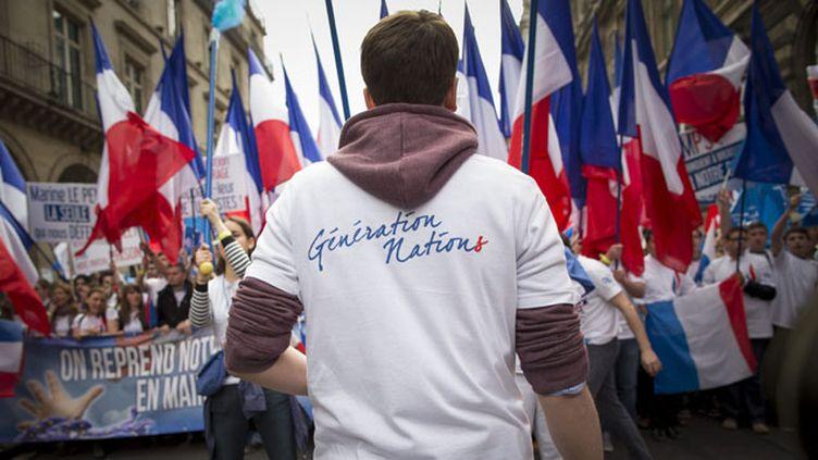 (Cortège du FNJ à la manifestation du 1er mai dernier © Maxppp)
