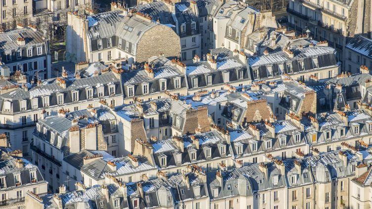 Une vue des toits de Paris, le 7 février 2018. (GARDEL BERTRAND / HEMIS.FR)