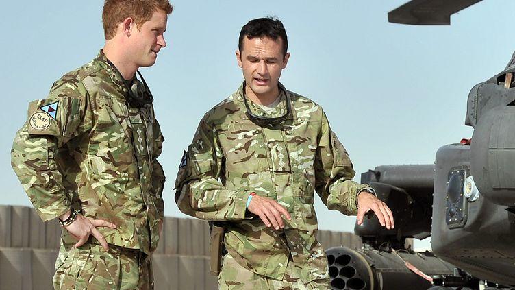 Le prince Harry au Camp Bastion à Helmand en Afghanistan le 7 septembre 2012 (JOHN STILLWELL / POOL)