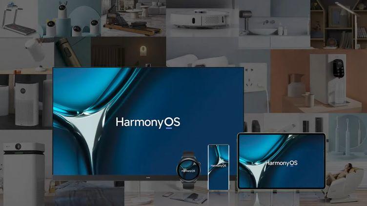 Des appareils Huawei tournant sous HarmonyOS.    (HUAWEI)