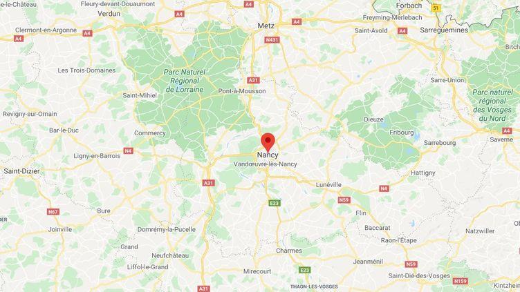Nancy,dans la région du GrandEst, au nord-est de la France. (GOOGLE MAPS)