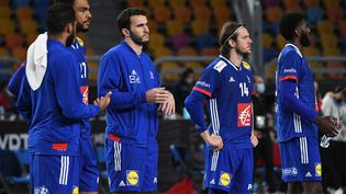 L'équipe de France termine quatrième du Mondial après sa défaite contre l'Espagne, dimanche 31 janvier 2021. (ANNE-CHRISTINE POUJOULAT / AFP)