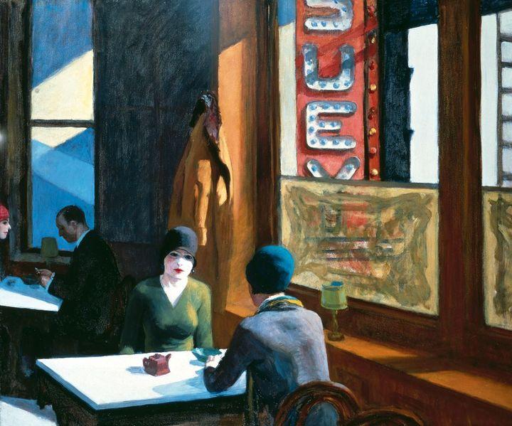 Edward Hopper, Chop Suey, 1929, Collection de Barney A. Ebsworth  (Collection particulière)