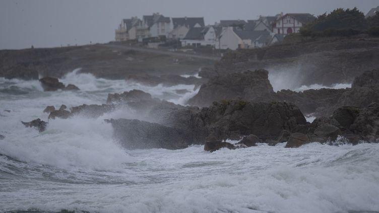 La tempête Aurora à Batz-sur-Mer (Loire-Atlantique), le 20 octobre 2021 (ESTELLE RUIZ / HANS LUCAS / AFP)