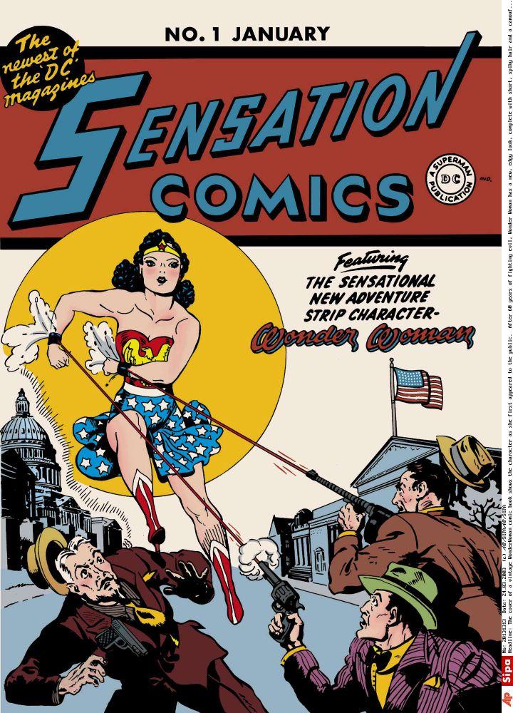 """Couverture d'une bande dessinée """"Wonder Woman"""" vintage. (AP/SIPA)"""
