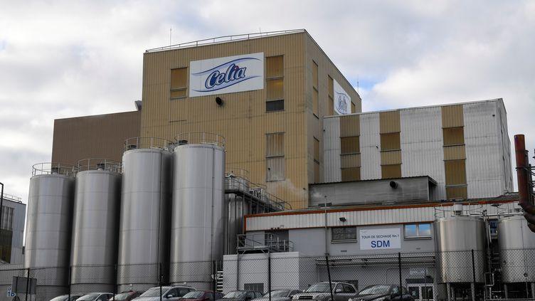L'usine du groupe Lactalisà Craon (Mayenne), où des lots de lait infantiles ont été contaminé par des salmonelles, le 4 décembre 2017. (DAMIEN MEYER / AFP)