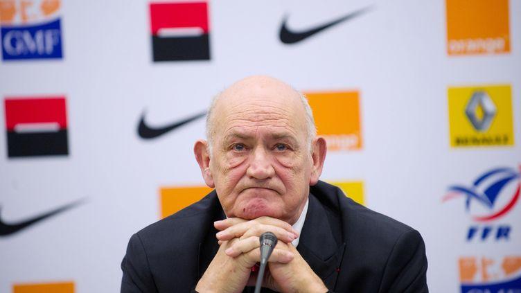 Pierre Camou, le 11 février 2012. (BERTRAND LANGLOIS / AFP)