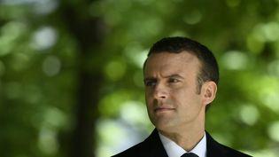 Le président Emmanuel Macron, au jardin du Luxembourg à Paris, le 10 mai 2017. (ERIC FEFERBERG / AFP)