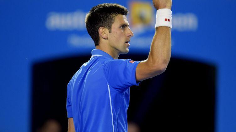 Le tennisman Novak Djokovic, dimanche 1er février à Melbourne lors de la finale de l'Open d'Australie. (MAXPPP)