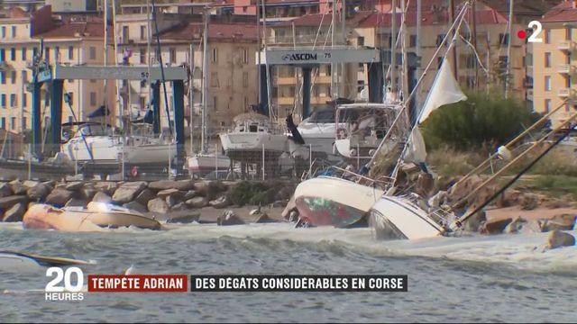 La tempête Adrian balaie la Corse