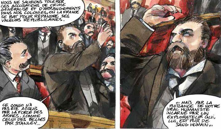 Extrait de la BD «Congo 1905» : Jaurès à l'Assemblée (Futuropolis Bailly et Thil)