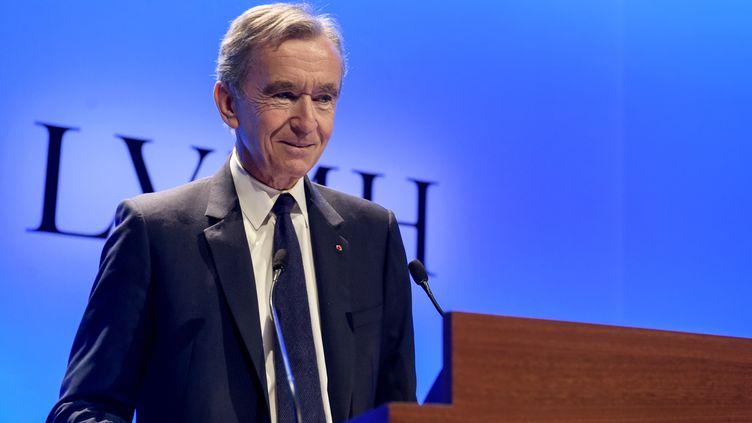 Bernard Arnault, patron de LVMH, à Paris, le 29 janvier 2019. (ERIC PIERMONT / AFP)