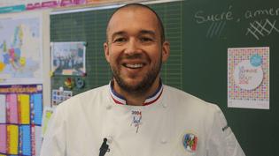 Le chef des cuisines de l'Elysée, Guillaume Gomez, à Paris le 11 octobre 2016 pour la semaine du goût. (ROBIN PRUDENT)