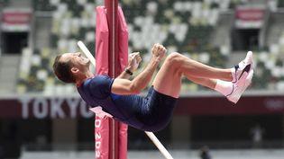 Renaud Lavillenies'est qualifié, le 31 juillet 2021, pour la finale du saut à la perche des Jeux de Tokyo. (HERVIO JEAN-MARIE / KMSP via AFP)