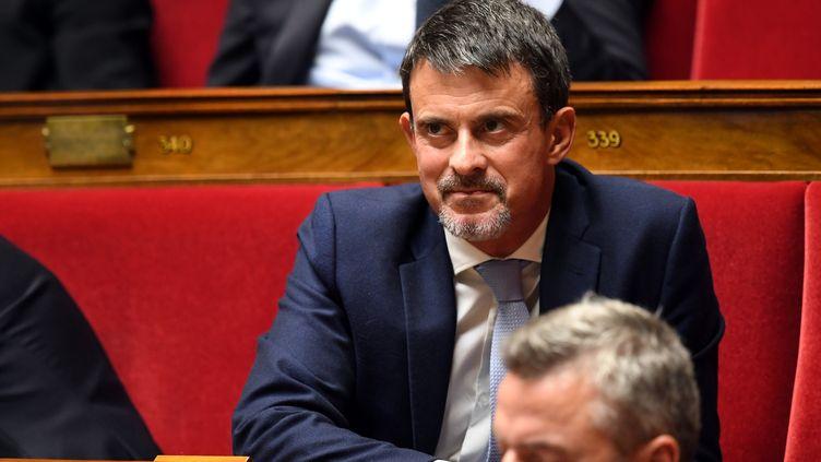 Manuel Valls, le 4 octobre 2017, à l'Assemblée nationale. (ERIC FEFERBERG / AFP)