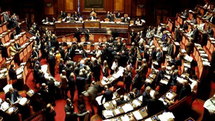 Le sénat italien, le 15 juillet 2010. (AFP - Filippo Monteferte)