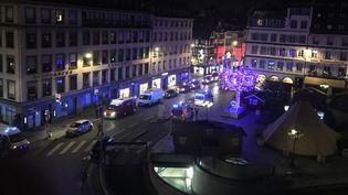 La place Gutemberg, le 11 décembre 2018, à Strasbourg. (PATRICK HERTZOG / AFP)