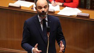 Le Premier ministre Edouard Philippe lors des questions au gouvernement à l'Assemblée, à Paris, le 19 mars 2020. (LUDOVIC MARIN / AFP)