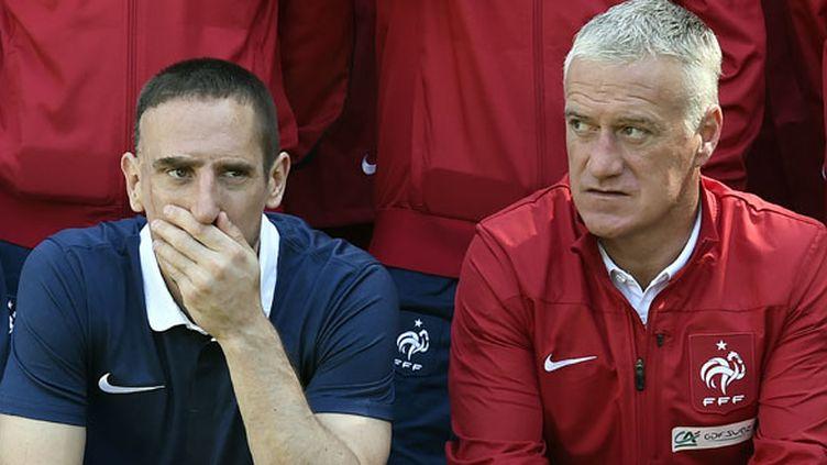 Franck Ribéry et le sélectionneur Didier Deschamps