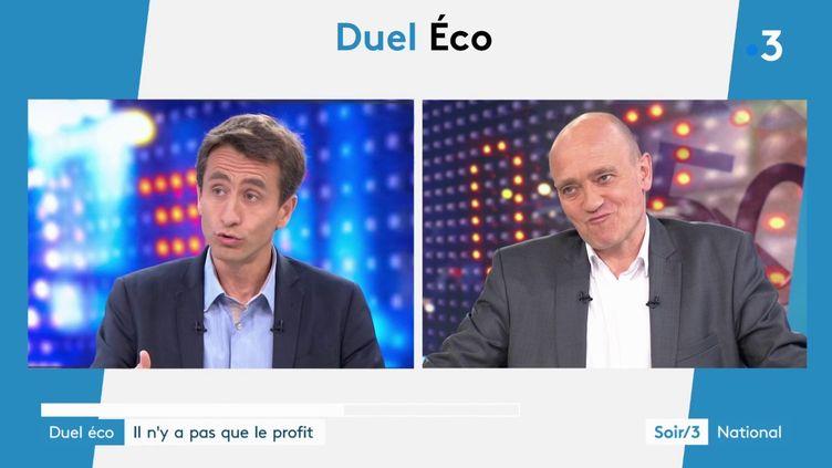 Le journaliste Etienne Lefebvre et l'économiste Christophe Ramaux (France 3)
