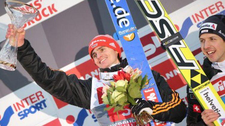 Richard Freitag, vainqueur de l'épreuve des Quatre Tremplins à innsbruck (DANIEL KARMANN / DPA)