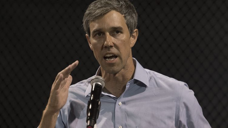 Beto O'Rourke, à El Paso (Texas, Etats-Unis), le 4 août 2019. (MARK RALSTON / AFP)