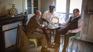 Alain Jean-Marie (piano), Roger Raspail (percussions), Patrice Caratini (contrebasse), les trois musiciens du Tropical Jazz trio. (MARION LEFLOUR)