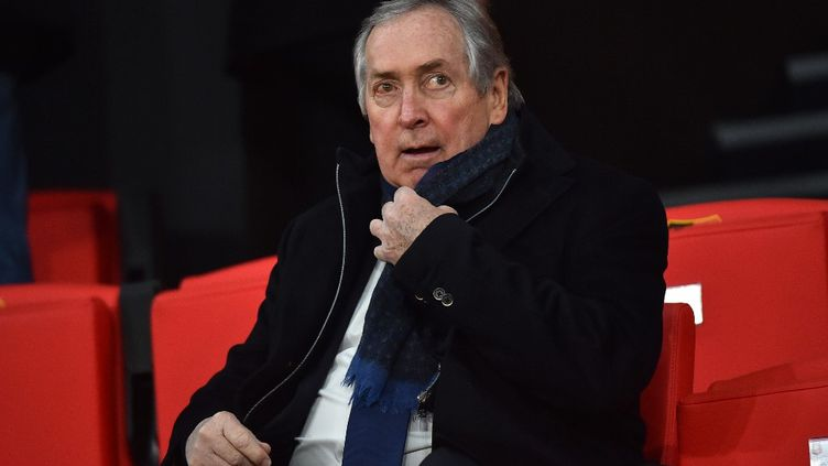 GérardHoullierassisteaumatch de football entre Rennes etLyonauRoazhon Park, le stade de la ville de Rennes,le 29 mars 2019. (LOIC VENANCE / AFP)