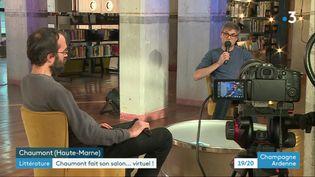 Des émissions préenregistrées pour le salon du livre virtuel de Chaumont (France 3 Champagne-Ardennes)