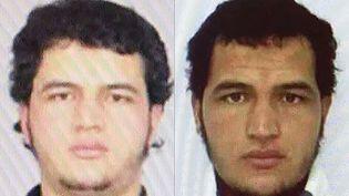 Photos du Tunisien Anis Amri, le suspect recherché après l'attentat de Berlin. (POLICE JUDICIAIRE / AFP)