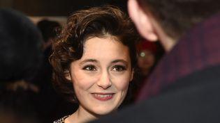 L'actrice allemande Lea van Acken, interprète d'Anne Frank, le 16 février 2016 à Berlin  (Clemens Niehaus / Geisler-Fotopres / Geisler-Fotopress / DPA)