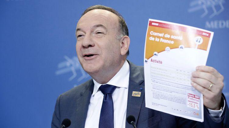 (Pierre Gattaz, invité de France Info, a lancé un cri d'alarme sur la santé des entreprises françaises. © Vincent Isore/IP3 press)