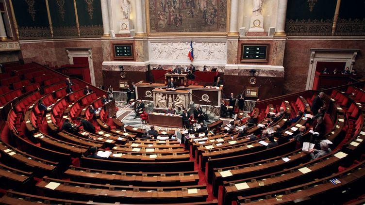 L'Assemblée nationale (Paris), le 8 février 2012. (PIERRE VERDY / AFP)