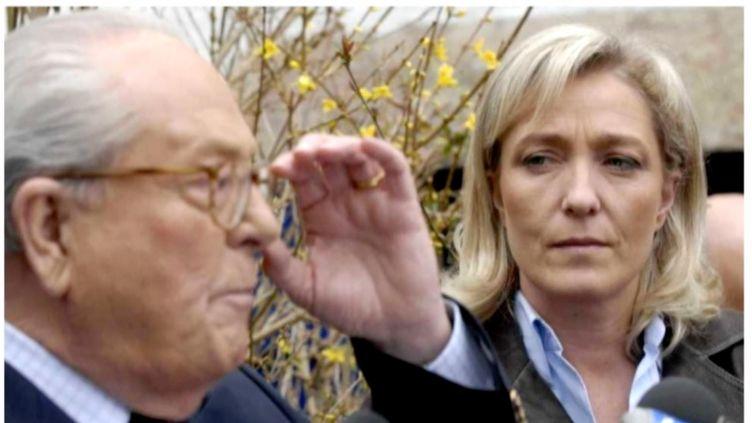 """La présidente du Front national Marine Le Pen et son père Jean-Marie Le Pen, dans un documentaire intitulé """"Marine Le Pen, la dernière marche ?"""" diffusé sur France 3. (PROGRAMM 33)"""