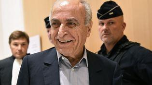 L'homme d'affaires franco-libanais Ziad Takieddine, le 8 octobre 2019 au tribunal à Paris.  (BERTRAND GUAY / AFP)