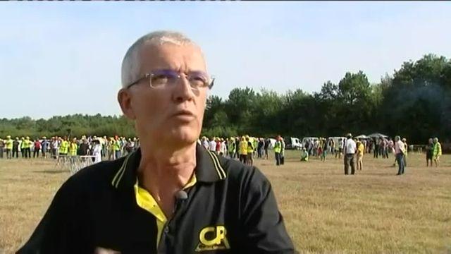 A Chambord, une manifestation paysanne défie les ministres européens de l'Agriculture