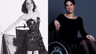 Sandrine Ciron (à gauche) et Nadjet Meskine, les deux Françaises qui vont participer au concours Miss Wheelchair World 2017. (DR)