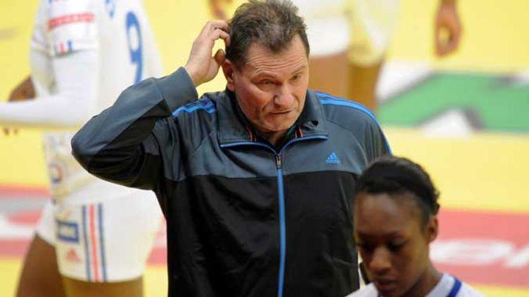 La déception de l'entraîneur de l'équipe de france de hand féminin Olivier Krumbholz